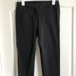209 black chino ankle pants - Size 6 - LUXURY